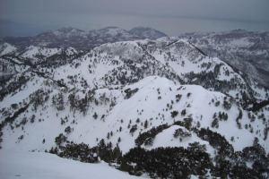 Черногория: С горы Орьен теперь и на санках