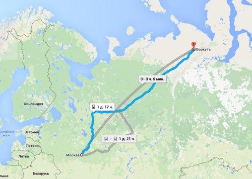 Воркута - город в зоне вечной мерзлоты