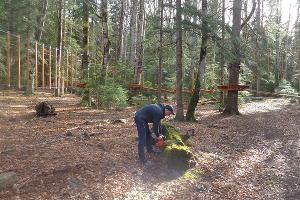 Россия: В Адыгее строят новый верёвочный парк